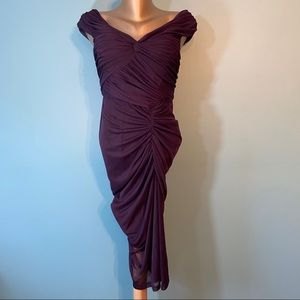 Adrianna Papell purple evening gown
